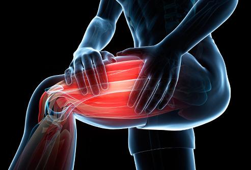گرفتگی عضلات ران پا